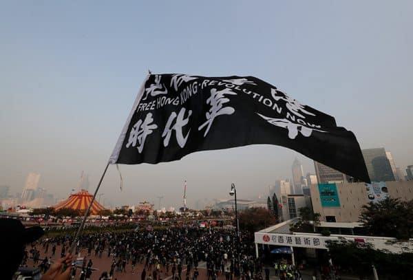 Penunjuk perasaan Hong Kong berhimpun, tunjuk sokongan kepada etnik Uighur