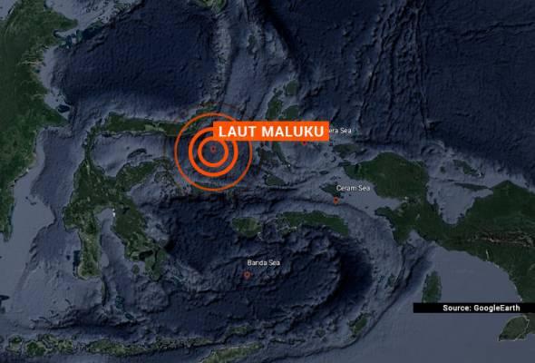 Gempa bumi sederhana melanda utara laut Maluku, Indonesia pagi ini