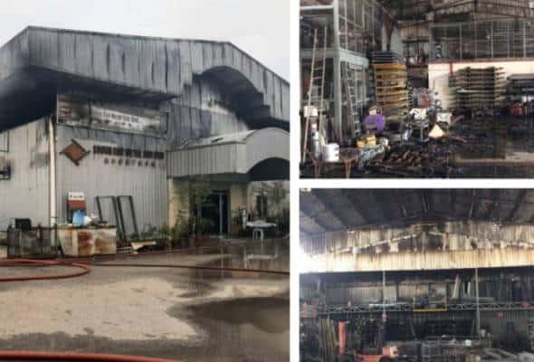 Kilang besi di Gong Badak musnah 80 peratus dalam kebakaran